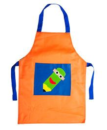 Li'll Pumpkins Pencil Apron - Orange