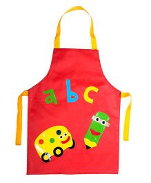 Li'll Pumpkins School Apron - Red