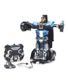 Turboz Remote Control Changing Robot Cum Car Black  And Blue -  27.5 cm