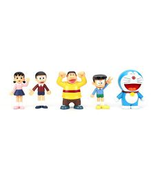 Doraemon and Gang Action Figures Pack of 5 - 9 cm