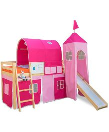 Alex Daisy Castle Loft Bed - Pink