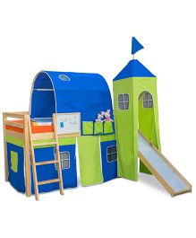 Alex Daisy Castle Loft Bed - Blue And Green