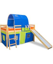 Alex Daisy Montana Loft Bed - Blue And Green