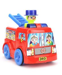 Lovely Push N Go Fire Brigade Vehicle Toy - Red