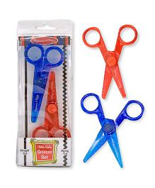 Melissa And Doug Child Safe Scissor Set Pack of 2 - Red Blue