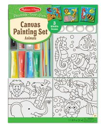 Melissa And Doug Canvas Painting Set Animals - Multicolor