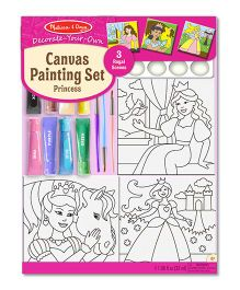 Melissa And Doug Canvas Painting Set Princess - Multicolor