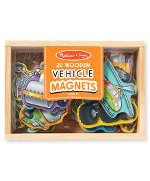 Melissa And Doug Wooden Vehicle Magnets - 20 Pieces