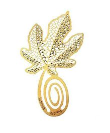 Studio Briana Four Leaf Clover Metal Clip Bookmark