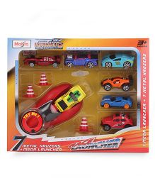 Maisto 7 Car Race Launcher Set (Color & Style May Vary)