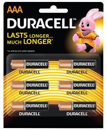 Duracell Alkaline AAA Batteries - Pack Of 6
