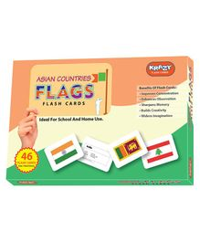 Krazy Asian Flags Flash Cards - 24 Pieces