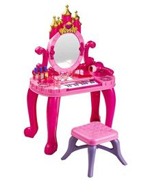 2589daf7b9e Webby Vanity Table Set With Piano - Pink