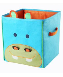 My Gift Booth Rhino Design Foldable Storage Boxes - Orange & Sky Blue