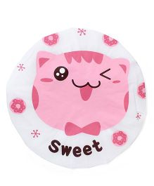 Adore Baby Shower Cap Cartoon Sweet Cat - White & Pink