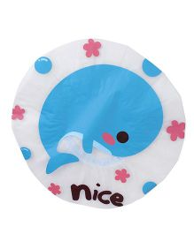 Adore Baby Shower Cap Cartoon Nice Fish Print - Blue & White
