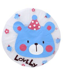 Adore Baby Shower Cap Cartoon Lovely Print - Blue & White