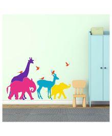 Chipakk Colorful Animals Large HD Wall Decal - Multi Color