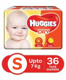 Huggies Dry Taped Diapers Small - 36 Pieces