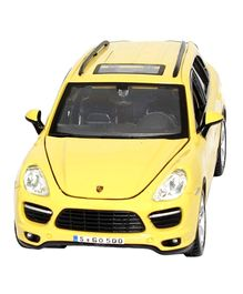 Bburago Die Cast Porsche Cayenne Turbo - Yellow