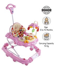 Babyhug Little Explorer Walker cum Rocker - Pink