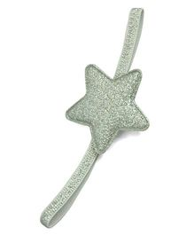 Little Miss Cuttie Glitter Star Headband - Silver