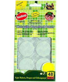 RunBugz Mosquito Repellent Patch Pack Of 48 (Color May Vary)