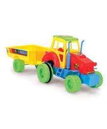 Kids Zone Nissan Tractor Trolley Friction Toy (Color May Vary)