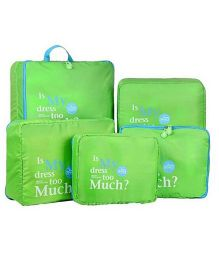 EZ Life 5 Piece Travel Bag-in-bag Organizers - Green