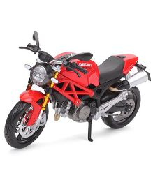 Maisto Die Cast Metal Ducati Monster 696 Motor Cycle Toy - Red & Black