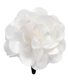 Miss Diva Single Flower Snap Clip - White