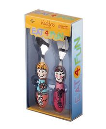 Eat4Fun Kiddos Cutlery Gift Set Louise and Bianca Pack of 2 - Multi Color