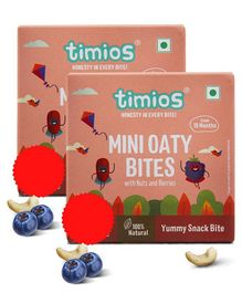 Timios Mini Oaty Bites Nut Berries 120 gm - Pack of 2