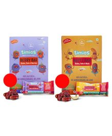 Timios Energy Bars Berry Natural Healthy Pack of 4 - 30 gm each & Timios Energy Bars Nutty Pack of 4 - 30 gm each