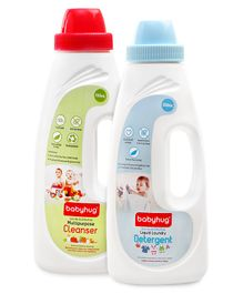 Babyhug Liquid Laundry Detergent - 550 ml and Babyhug Liquid Multi Purpose Cleanser - 550 ml - (Pack of 2)