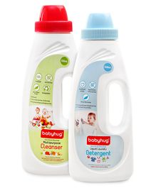 Babyhug Liquid Laundry Detergent - 550 ml AND Babyhug Liquid Multi Purpose Cleanser - 550 ml