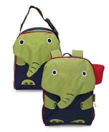 My Milestones Toddler And Kids Backpack & Lunch Bag Elephant Green - 13 inch