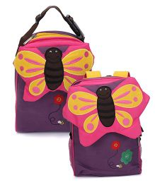My Milestones Toddler Kids Backpack & Lunch Bag Butterfly Purple - 13 inch