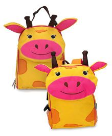 My Milestones Toddler Kids Backpack & Lunch Bag Giraffe Yellow - 13 inch