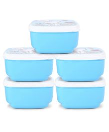 Jewel Lunch Box Set - Blue -Pack of 5