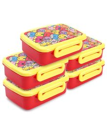 Mr Men and Little Miss Lunch Box - Yellow  -Pack of 5
