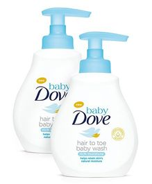Baby Dove Rich Moisture Hair to Toe Baby Wash - 400 ml-Pack Of 2