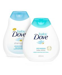 Baby Dove Rich Moisture Shampoo - 200 ml And Baby Dove Baby Lotion Rich Moisture - 200 ml