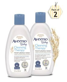 Aveeno Baby Cleansing Therapy Moisturising Wash  236ml - pack of 2