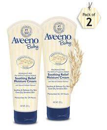 Aveeno Baby Soothing Relief Moisture Cream  227g - pack of 2