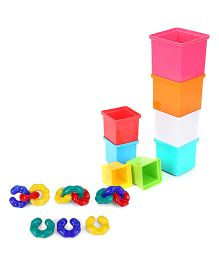 Giggles Stacking Cubes - 8 Cubes and  Fisher Price Baby Activity Chain - Multicolour