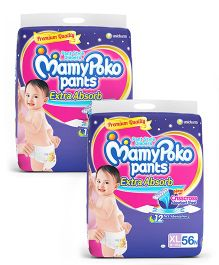 Mamy Poko Extra Absorb Pant Style Diapers Extra Large - 56 Pieces (Pack of 2)