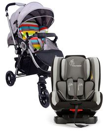 R for Rabbit Chocolate Ride The Designer Pram Rainbow AND R for Rabbit Jack N Jill Convertible Car Seat