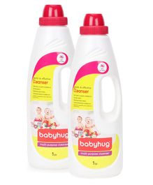 Babyhug Feeding Bottle Accessories & Vegetable Liquid Cleanser-1000ml-Pack of 2