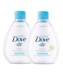Baby Dove Rich Moisture Baby Massage Oil - 200 ml-Pack of 2